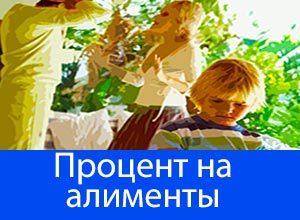Сколько процентов от зарплаты составляют алименты на 1 ребенка, двоих детей или троих?